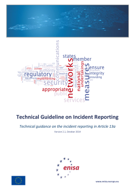 2014 Oct ENISA Article_13a Technical_Guideline_On_Incident_Reporting