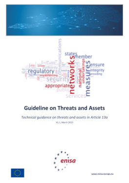 2015 Mar ENISA Article_13a Guideline_on_Threats_and_Assets