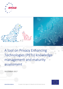 2018 MAr ENISA - A Tool on Privacy Enhancing Technologies-PET