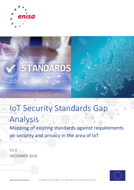 2019-Jan_ENISA IoT Security Standards Gap Analysis
